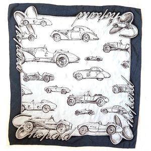 Chopard | Automobiles Blue Silk Scarf